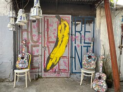This is a wonderfully whacky outdoor art gallery in an old 1930s, converted leather factory on tiny Peng Chau Island.