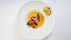 Bouillabaisse with Lobster, Scallops, Mussels Seabass and Octopus
