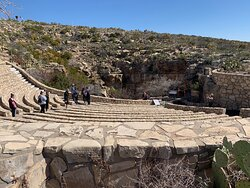 The amphitheater and natural entrance