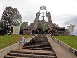 Llegando al monumento