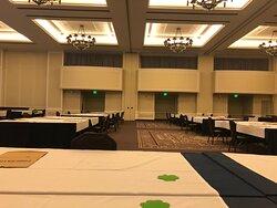 The ballroom set up.