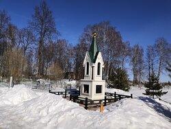 Утопающее в мартовском снегу кладбище села Афанасьевское