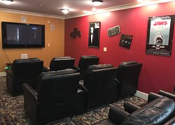 Enjoy a movie in our theater room