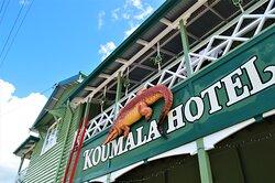 Koumala hotel with a resh lick  of paint :)