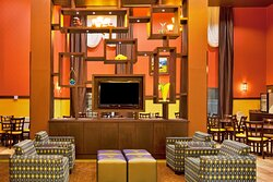 Relax in our contemporary lobby lounge area