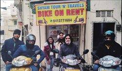 Shyam Tour N Travels bike rental............ Bike hire
