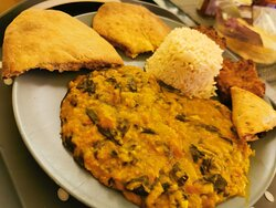 Dhal and naan cooking class (homemade dhal and naan bread)