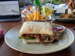 Steak Sandwich at The Sandbox. Soooo good!!!