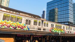 Murals by local Chicago artists.