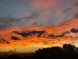 just another ordinary sunset at Villa Linda Vista Montana