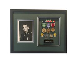Services Badges in a Frame of Mind shadow box custom frame