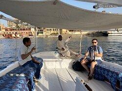 Paseo faluca en Aswan