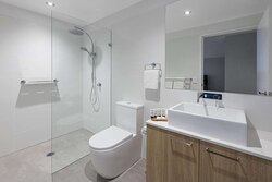 Two Bedroom Superior Suite bathroom with spacious shower