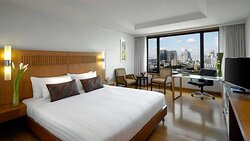 Skyline bedroom with with city view