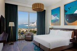 Superior Sea View One Bedroom Apartment bedroom