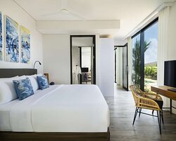 Second Master Bedroom of Three Bedroom Plunge Pool Suite with Pool View