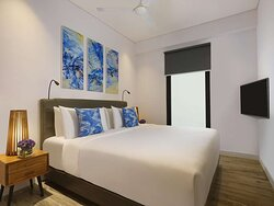 Master Bedroom of Apartment Suite with King Bed