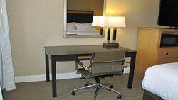 An Ergonomic Desk & Chair provides comfort when working