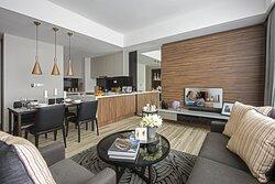 Living Room of One Bedroom Premier