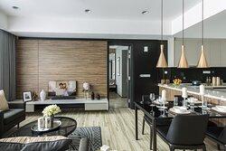 Living Room of Two Bedroom Premier