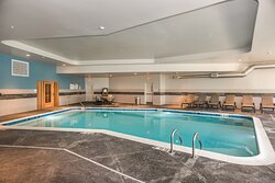 Take a dip in the pool or relax in the hot tub or steam room