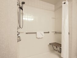 ADA Guest Bathroom with Roll In Shower at Holiday Inn Eagan, MN