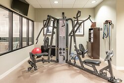 Stay fit while staying with us with our onsite fitness center