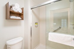 Oversized spacious shower in every standard studio and suite