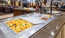 Fresh fruit is one of the attractions on our hot breakfast buffet