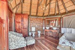 Bathroom in Luxury Safari Room at Mbali Mbali Soroi Serengeti Lodge