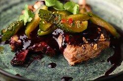 Свиные ребра/ соус BBQ из черноплодки