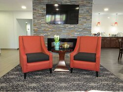 Find a comfy chair to chat with friends or flip through a magazine in our  lobby.
