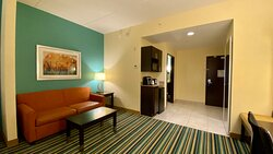 Stay in one of our spacious suites with sofa bed!