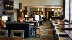 Staybridge Suites Lexington KY breakfast and social area