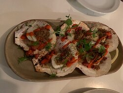 Scallops on the Shell with Romesco