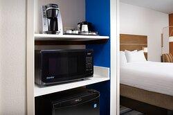 Guest Room Amenities: Microwave & Min-Fridge, and Coffee/Tea Maker