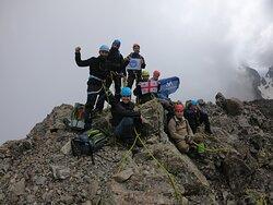 Mountain Takaishvili summit.