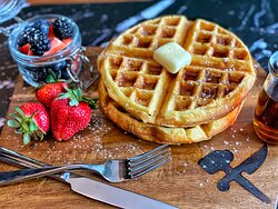 Waffle with Fresh Berries