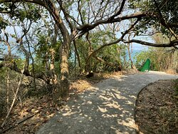 The Peng Chau Island Trail or 'Family Trail' is a very scenic 7km walking path that loops around the island. The path is pave almost the entire way.