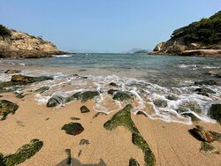 The Peng Chau Island Trail is a very scenic 7km walking path that loops around Peng Chau Island. This secluded beach is one of the highlights.