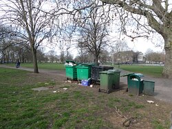 Clapham Common: unkempt and strewn with rubbish