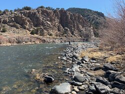 View from Bighorn Park and Campground along Arkansas River
