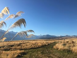 Breath taking views of Mt Cook and the McKenzie country