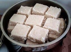 Milk rice at breakfast