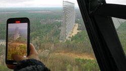 Chernobyl Helicopter Tour - Duga-1 Russian Woodpecker