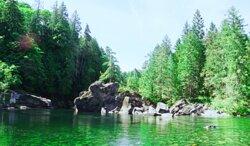 Swim hole of Nanaimo River