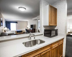 Spacious suite with kitchenette
