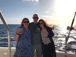 Last day in Waikiki and we had a wonderful time with daughter Tara on this sunset cruise!