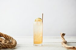 Aphrodite - One Kiss From This Lady And You Will Fall In Love. JimmyRum apple infusion, Elderflower liqueur, lemon juice, cinnamon syrup and Strangelove Cloudy Pear