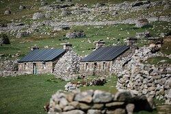the more modern dwellings